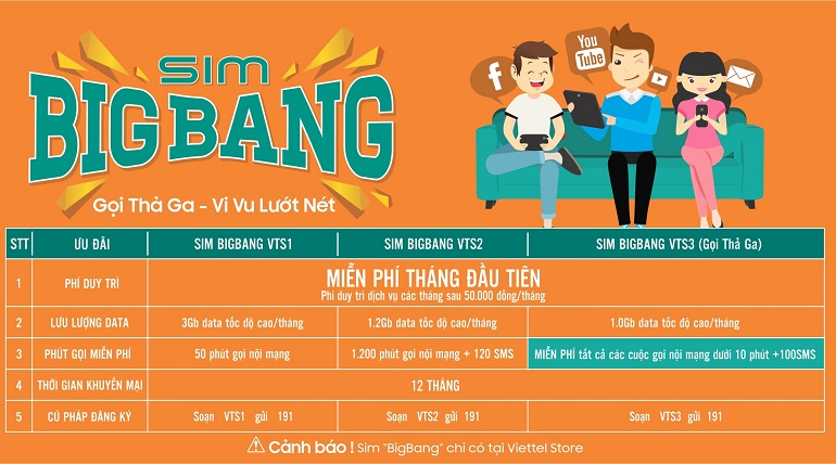 Thông tin về Sim BIGBANG miễn phí của Viettel