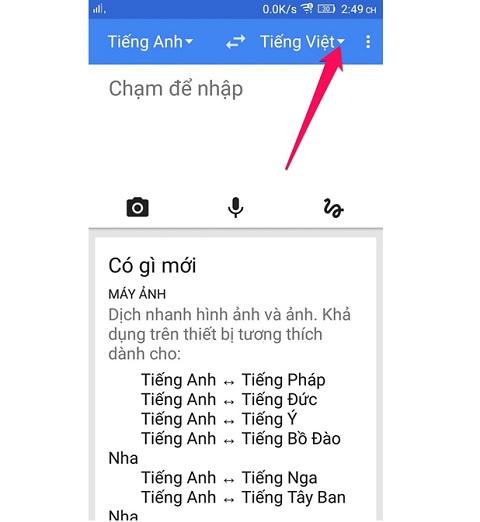 giao dien google dich offline
