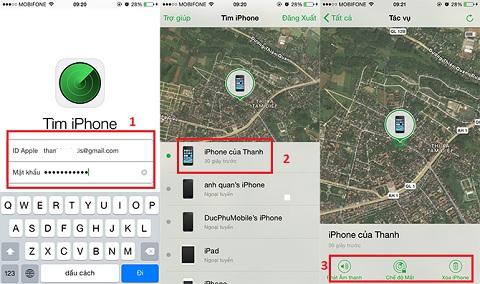 Hướng dẫn định vị và xóa dữ liệu trên điện thoại khi bị thất lạc