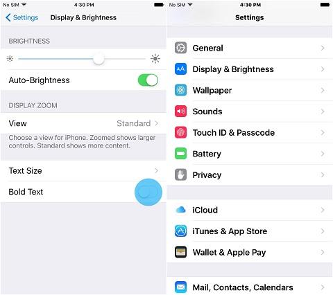 Thay đổi kích thước font chữ trên iOS (4)