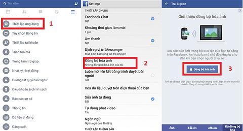 Bạn có thể sao lưu trực tiếp ảnh lên Facebook, tuy nhiên kích thước ảnh sẽ bị thay đổi về tối đa 2048 pixel