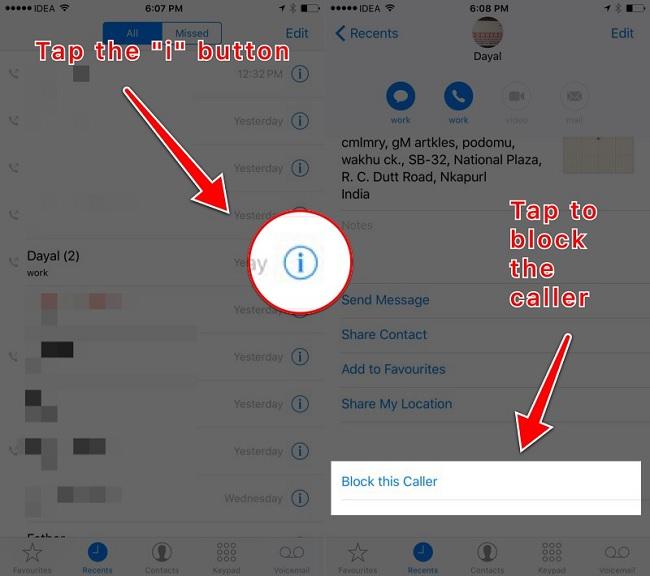 Làm thế nào để chặn số điện thoại trên iOS 10?