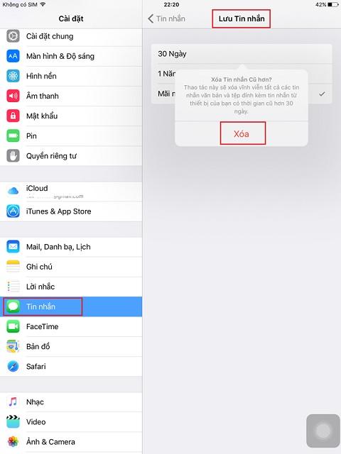 Mẹo xóa tin nhắn trên iPhone cực kỳ đơn giản