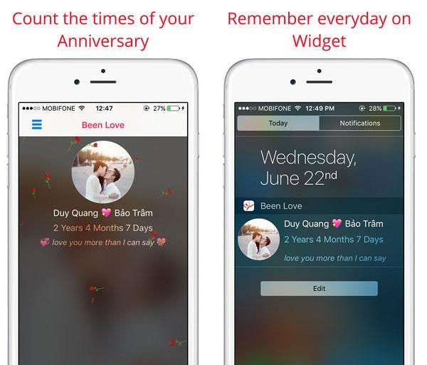... nhưng hiệu quả lại tức thì, đó là đếm chính xác số ngày 2 bạn đã yêu  nhau. Bạn cũng không cần phải truy cập thường xuyên vào ứng dụng.