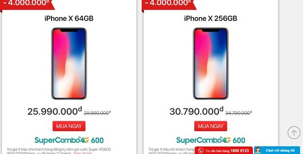 iPhone giảm giá hết cỡ tại Viettel Store