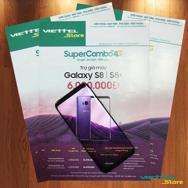 Mua Galaxy S8 Plus giảm giá hấp dẫn và tham gia sử dụng gói cước nhà mạng Viettel