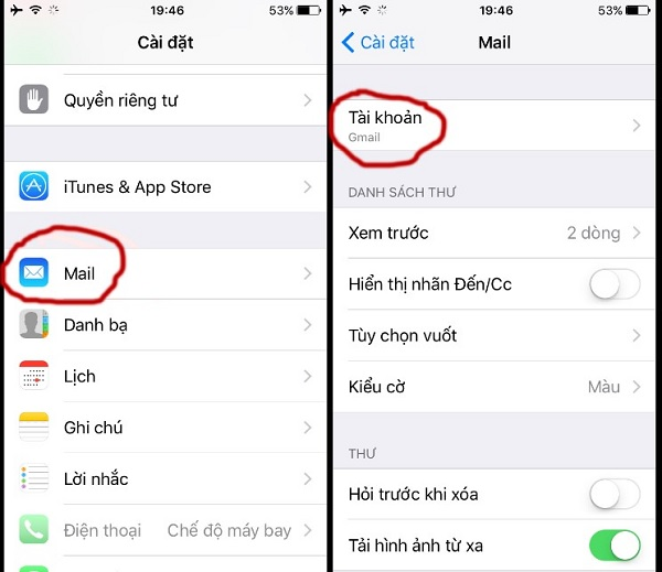 Mách bạn cách đăng xuất mail trên iPhone đơn giản & dễ thực hiện