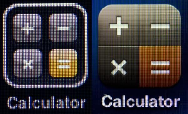 Màn hình Retina (phải) có độ nét cao hơn hẳn những loại màn hình đàn anh