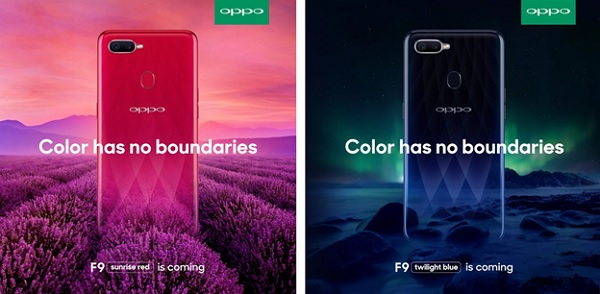 Phiên bản màu OPPO F9