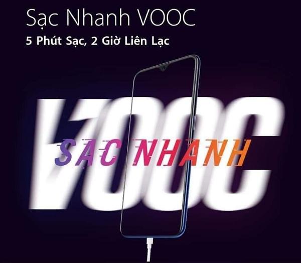 Công nghệ VOOC trên OPPO F9