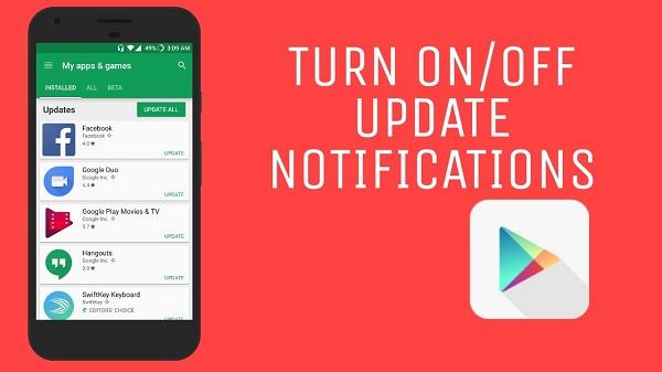 Cách tắt thông báo cập nhật ứng dụng trên Android