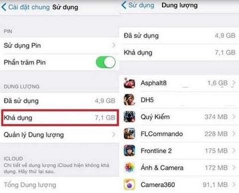 Xóa bộ nhớ trong để fix lỗi bộ nhớ iPhone bị đầy (1)