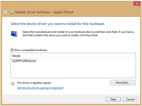 Cài lại Driver cho iTunes là cách khắc phục khá hiệu quả