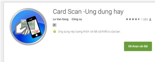 Ứng dụng Card Scan