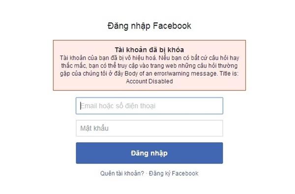 Có khá nhiều người dùng gặp phải tình trạng tài khoản Facebook bị khóa