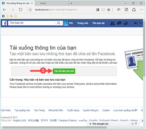 Khôi phục tin nhắn đã xóa trên Facebook 1