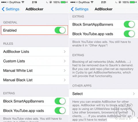 Hướng dẫn cách chặn quảng cáo trên iOS, Android và Windows Phone