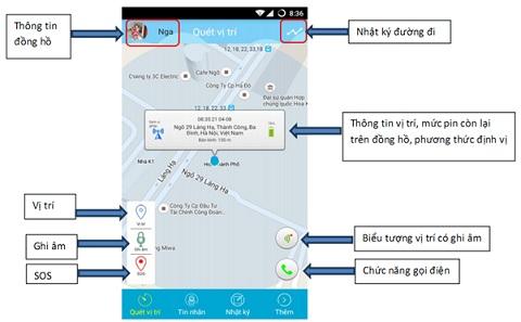 Giao diện phần mềm giám sát con cái trên điện thoại (hỗ trợ cả iOS và Android)