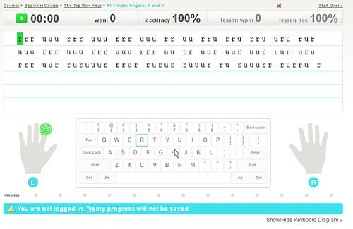 Typingweb.com - một trong những trang web online dạy gõ phím