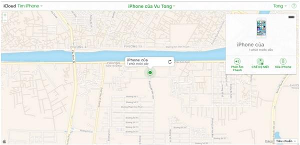 Truy cập vào icloud để xóa iPhone