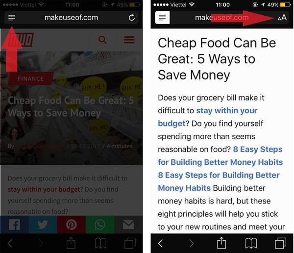 Với chế độ Reader, người dùng sẽ không còn bị làm phiền bởi những quảng cáo