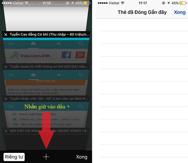 Nếu lỡ tay tắt nhầm tab đang sử dụng, bạn vẫn có thể dễ dàng khôi phục lại