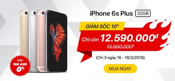 khuyến mãi iPhone 6s Plus