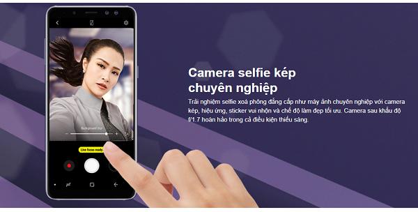 """Điểm danh những ưu điểm Galaxy A8 """"đốn tim"""" Samfans"""