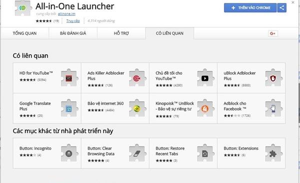 Chọn danh sách ứng dụng mà bạn muốn xuất hiện trên All-in-One Messenger