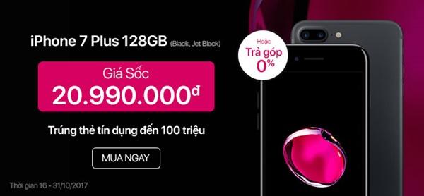 Mua iPhone 7 Plus 128GB Black/ Jet Black giá sốc tại Viettel Store