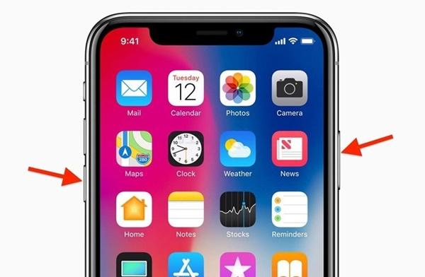 iPhone X đã không còn phím Home, nhiều phím bấm cũng thay đổi chức năng