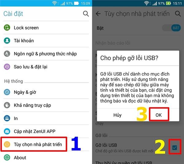 Hướng dẫn kiểm tra và giải phóng bộ nhớ điện thoại Android