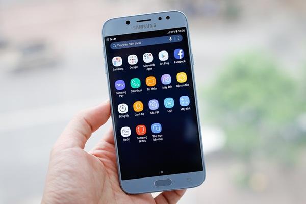 """Điểm danh những ưu điểm Galaxy J7 Pro """"đốn tim"""" Samfans"""