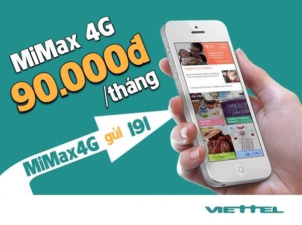 3 cách đăng kí gói MiMax 4G không giới hạn dung lượng (90,000đ/tháng)