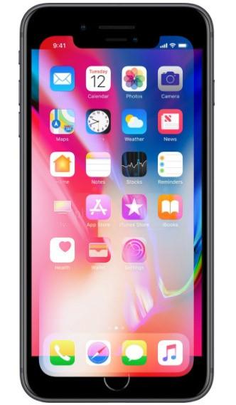 Khi đặt màn hình của iPhone X lên trên iPhone 8 Plus