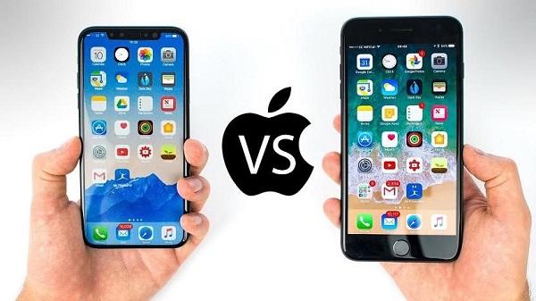 Trên thực tế màn hình iPhone 8 Plus không hề bé hơn iPhone X