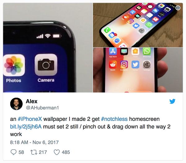 Một hình nền đặc biệt có thể giấu tai thỏ iPhone X