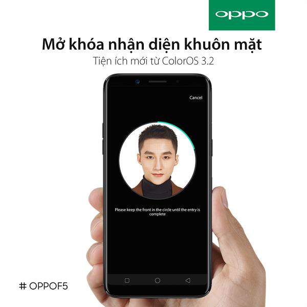 Hướng dẫn chi tiết cách sử dụng Face ID OPPO F5