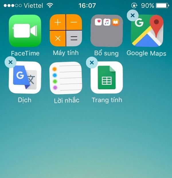 Các biểu tượng trên màn hình chính của điện thoại iPhone