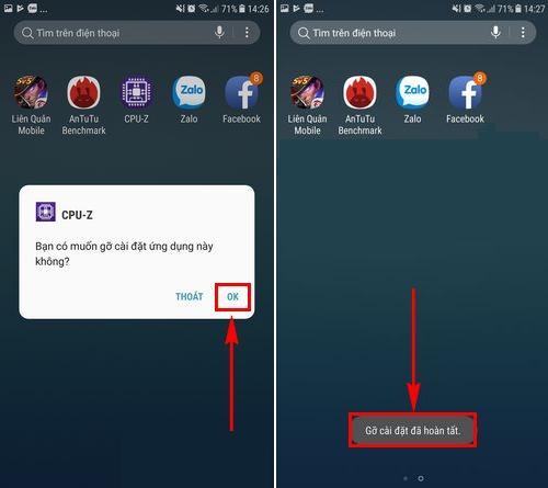 Cách xóa ứng dụng trên điện thoại Samsung