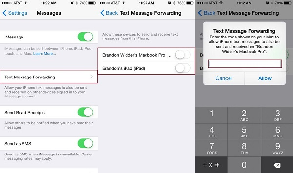 Chỉ hiển thị tin nhắn trên iPhone và ẩn trên các thiết bị khác