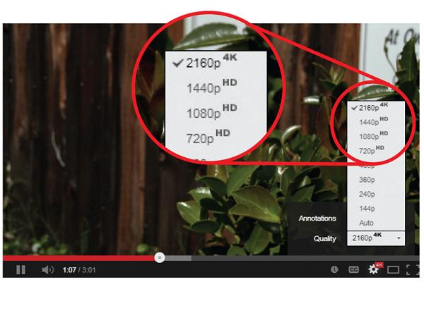 Độ phân giải 4K chỉ hiện lên trong phần chỉnh chất lượng xem chỉ khi… máy bạn có cấu hình đủ mạnh.