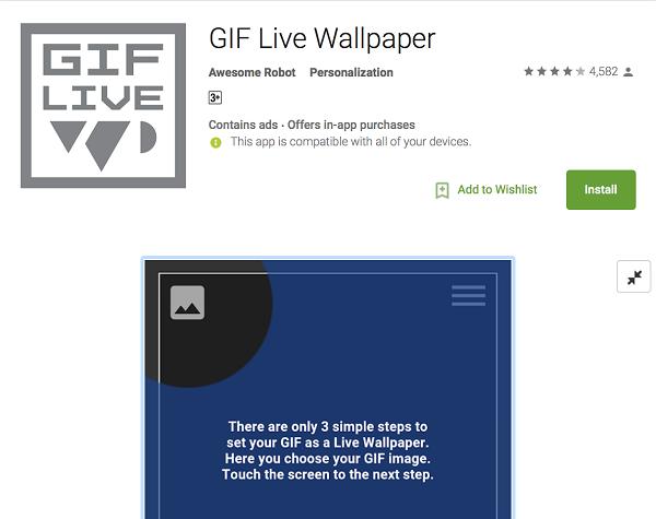 Mẹo tạo hình nền điện thoại Android từ ảnh GIF và video