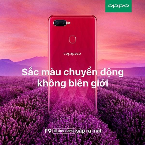 OPPO F9 phiên bản màu đỏ