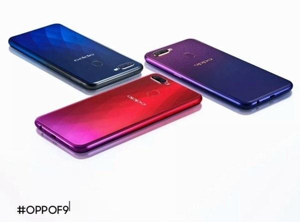 Oppo F9 có mấy phiên bản màu sắc