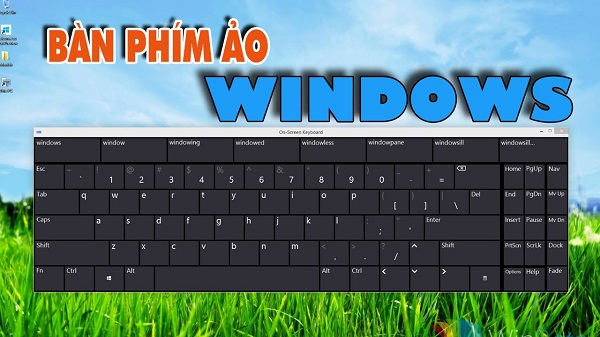 Bàn phím ảo trên Windows 8/8.1