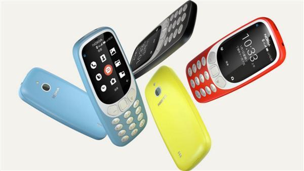 Nokia 3310 4G ra mắt có 4 màu chính: vàng, đỏ, xanh da trời và đen