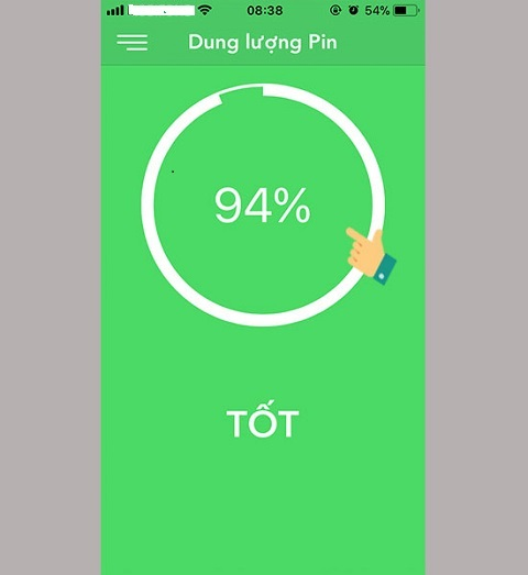 Pin của bạn đã bị chai 6%