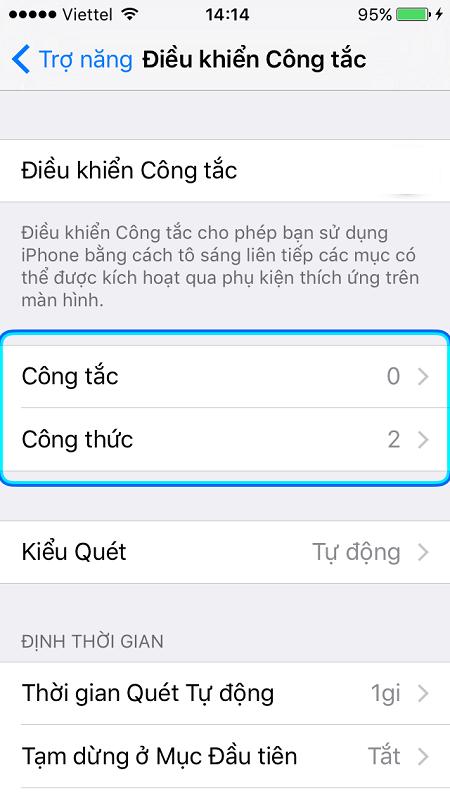 Bước cuối cùng của cách điều khiển iPhone bằng đầu
