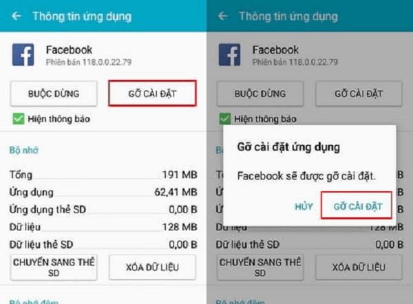 Sử dụng Settings (Cài đặt) của thiết bị để xóa Facebook Apps trên Android